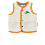 Rainbow pino baby quilted vest