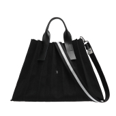 Lucky Pleats Canvas L Black_Black