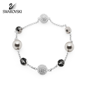 [SWAROVSKI] 5437865 / REMIX COLLECTION STRAND 로듐 플래팅 팔찌