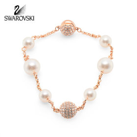 [SWAROVSKI] 5365738 SWAROVSKI REMIX COLLECTION MIXED WHITE CRYSTAL PEARL 팔찌