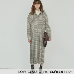 [로우클래식] 19FW PLEATED DRESS_CHECK (Z3LCI6DR001.GY)