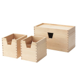 [marketb] FORHOJA Box, set of 4, birch