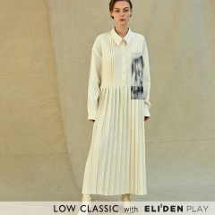[로우클래식] 19FW PLEATED DRESS_PRINT (Z3LCI6DR001.WH)