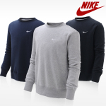 Fleece sweat shirts with a round neck