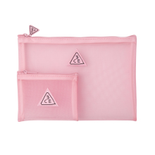 3CE PINK RUMOUR MESH POUCH