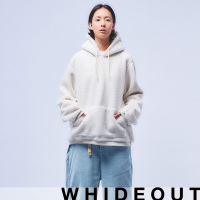 [하이드아웃][UNISEX] STAN FLEECE HOODY (IVORY)