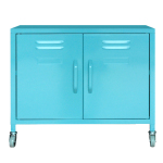 [marketb] PS Steel Cabinet 2 Door on Castors (60x49cm, Mint)