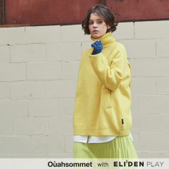 [우아솜메][김유정 착용] Ouahsommet BACK WRAP TURTLE-NECK SWEATER [YELLOW] (OA4PO004A)