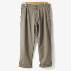 [메종] WORK ONE TUCK PANTS x SFM KHAKI/MS92M30007A23