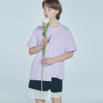 unbalance T-shirt Purple