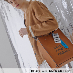 [비비와이비][허영지 착용] BBYB MARCE Unisex Tote Bag (Amber Brown) (09H3110B5W)