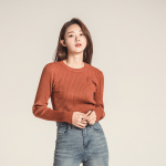 Round Slim Knit Top 5Color