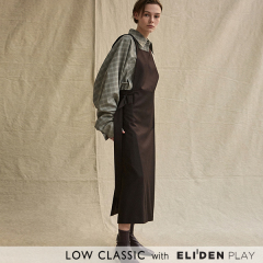 [로우클래식] 19FW SLEEVELESS WRAP DRESS_BROWN (Z3LCI6DR004.DBR)