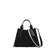 Lucky Pleats Canvas S Black_Black