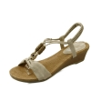 Oriental beads middle wedge sandals_KM14s399