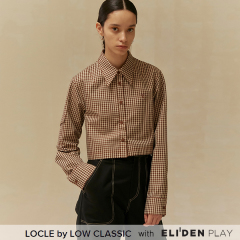 [로우클래식] 19 FALL LOCLE Crop shirt_beigecheck (Z3LCI6ST101)