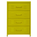 [marketb] PS Steel Drawer 4칸 (55x50x82cm, Yellow)
