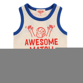 Awesome match baby color block tank top