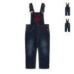 [BEBEDEPINO] Awesome match embroidery denim overall / BP8106324