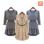 Vintage Casual Printed Dress (M8095,M8056)