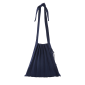Lucky Pleats Knit M Half & Half Classic Navy