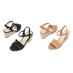 [Jasmine Espadrille Wedge Sandal 60mm] 여성 가죽 웨지힐 2종택일 CHSO9E216