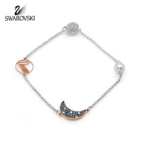 [SWAROVSKI] 5490934 / REMIX COLLECTION MOON STRAND 로듐 로즈골드 플래팅 팔찌