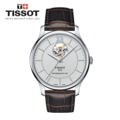 [Tissot] TRADITION open heart 가죽 남성시계 T063.907.16.038.00