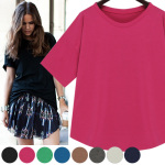 Dolman Sleeve Round Neck T-Shirt(8 colors)