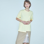 unbalance T-shirt Yellow