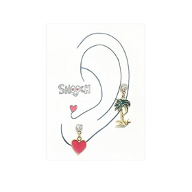 Heart Palm Tree Earring[스무치]