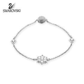 [SWAROVSKI] 5432735 / REMIX COLLECTION SNOWFLAKE STRAND 로듐 플래팅 팔찌