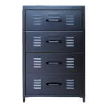 [marketb] PS Steel 4 Drawers (55x50x82cm, Black)