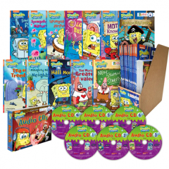 SpongeBob SquarePants 스폰지밥 챕터북 12종 세트 (Paperback + Audio CD 증정)