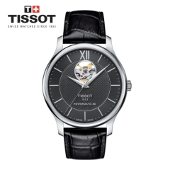 [Tissot] TRADITION open heart 가죽 남성시계 T063.907.16.058.00