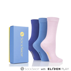[삭샵][영국] Ladies 3 Pair SockShop Bamboo Bright Gift Boxed Socks (GIFT SS W G)