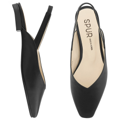 슬링백 MS9073 Slim square sling back 블랙