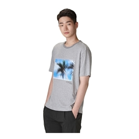 [customellow] [customellow X Lee dong Hwi] Palm tree t-shirts_CWTAM16499GYX