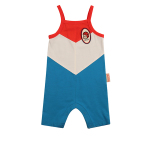 Keep your chin up baby color block suit