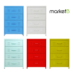 [MARKETB] PS Steel Drawer 4칸 (55x50x82cm, 4종)