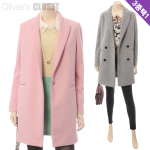 Stylish long coat / Choose one of 3 / O1401CO005