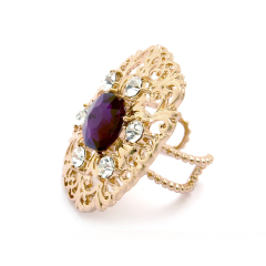 blooming purple stone Ring