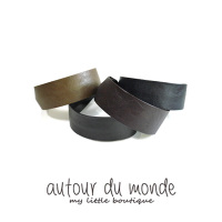 simple leather hairband (4colors)